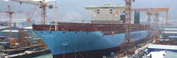 File First Triple-E Class Afloat: Photo credit Maersk