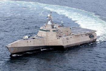 File LCS 4 on sea trials: Photo credit USN