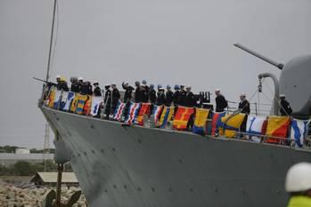 File USS Donald Cook arrives Rota: Photo USN