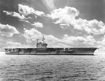 File USS Forrestal (CVA-59). Photographed by W.F. Radcliff, 1955. U.S. Naval Historical Center Photograph.
