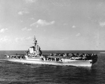 File USS Franklin Delano Roosevelt (CVB-42. Official U.S. Navy Photograph, now in the collections of the National Archives.