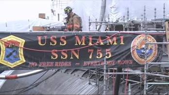File USS Miami Fire-damaged: Photo credit Porsmouth Naval Shipyard