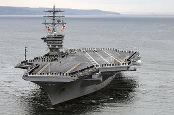 File USS Nimitz: Photo credit USN