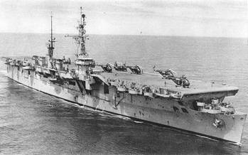 File USS Saipan (U.S. Naval Historical Center Photograph.)