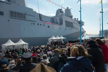 File USS Somerset commissioning: Photo credit USN