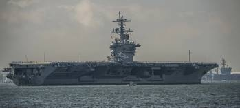 File Newport-News-built aircraft carrier USS Theodore Roosevelt (Photo courtesy Huntington Ingalls Industries, by Ricky Thompson)