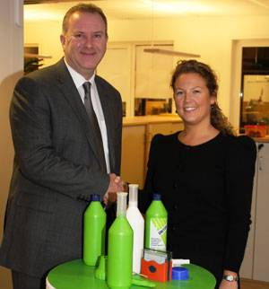 File Andrew Stephens, Senior Vice President International Operations, and Thea Corwin, Head of Environment.