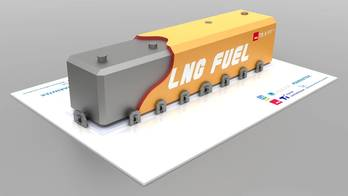 File LNG Fuel Tank solution based on the NLI LNG tank design.