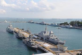 File Warships berthed at Changi Naval Base for IMDEX Asia 2013 (Photo: IMDEX Asia)
