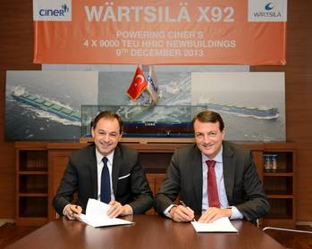 File Contract signatures: Photo Wärtsilä