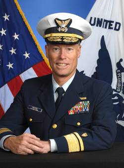 File Rear Admiral James A. Watson, new Director of the Bureau of Safety and Environmental Enforcement (BSEE).