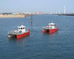 File The two new Wave Skimmer class boats undergoing trials at Blyth