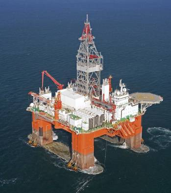 File West Aquarius rig: Photo courtesy of Seadrill