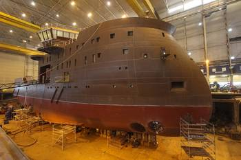 File Yno 309 is currently under construction at Ulstein Verft (Photo: Ulstein)