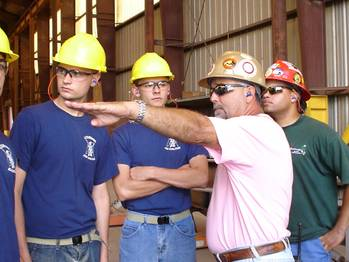 File Vocational technical students touring a Bollinger Shipyards facility in Louisiana. Courtesy of Bollinger Shipyards.