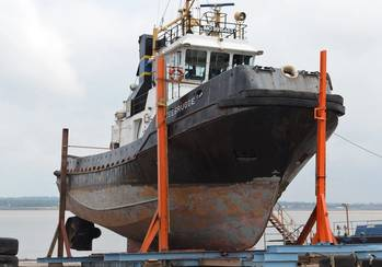 File MCTAYS currently has the SMIT Tug Zeebrugge on its slipway
