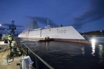 File DDG 1000 Afloat: Photo credit USN
