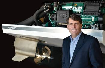 "File Ron Huibers, President of Volvo Penta Region America, said ""We have the mandate to grow the business substantially; we want to double the business in the next few years."""