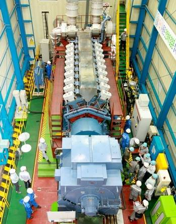 File HiMSEN H35/40GV Engine Test: Photo credit HHI