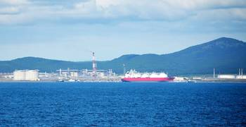 File LNG plant in Sakhalin: Image courtesy Gazprom