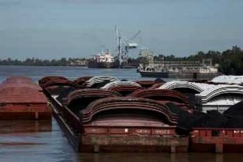 File Barges in the Gulf: Photo courtesy of AEP River Operations