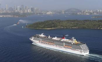 File Carnival Spirit arrives into Sydney Harbor. (Photo: Carnival Cruise Lines, Photographer credit: James Morgan)