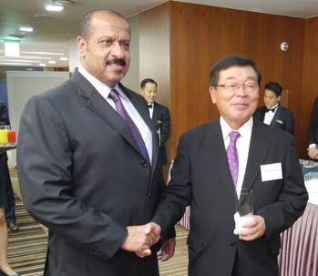 File Sheikh Talal Al-Khaled Al-Ahmad Al-Sabah, Chief Executive Officer of KOTC (left), with Noboru Ueda, Chairman and President of ClassNK