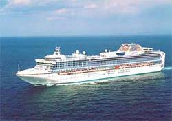 File MHI has previous experience in building cruise ships. Pictured here is the 113,000 gt Diamond Princess. (Photo: MHI)