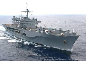 File In efforts to extend ship life, increase capability and assure critical operations, the U.S. Navy is refitting its USS Mount Whitney Blue Ridge class command ship. GE has signed a contract worth US$14 million if all options are exercised with Military Sealift Command for the project.