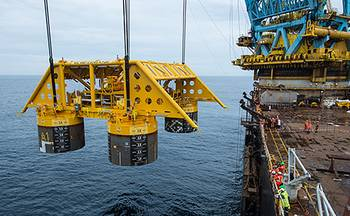 File Installation of subsea template at the Åsgard field in the Norwegian Sea. (Photo: Øyvind Hagen)