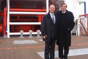 File SpecTec CEO Giampiero Soncini with Mr. Ferdinando Tognini, Head of Fincantieri Riva Trigoso shipyard