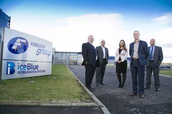 File The new team joins Derek Penny, Corporate Development Director outside Ferguson Group Aberdeen headquarters. (L-R: Gordon Bennett, Mick Rash, Judith Verner, Allan Mitchell, Derek Penny)