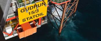 File The Gudrun platform (Photo: Harald Pettersen/Statoil)