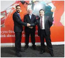 File From left to right: Dr Sultan FMG,  Alan Kennedy Bolam IRHC, Darrin Hawkes, Hawkes Associates
