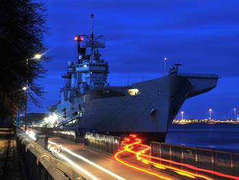 File HMS Illustrious in Copenhagen: Photo credit MOD