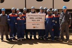 File Apprentices, officials at ceremony: Photo credit Aker