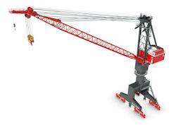 File Konecranes received an order for high-tech portal jib crane from Brasilian shipyard.