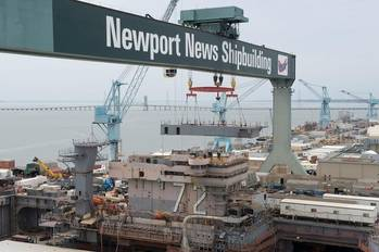 File Newport NEws works on the USS Abraham Lincoln's (CVN 72) refueling and complex overhaul (Photo by John Whalen/HII)