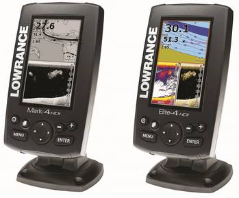 File Mark-4 (left) and Elite-4 from Lowrance