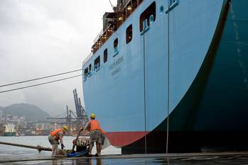 File Maersk Line Container Ship: Photo courtesy of Maersk Line