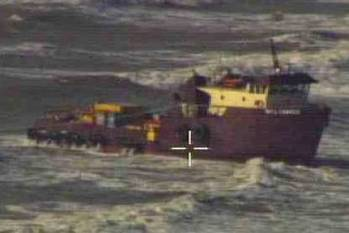 File PSV Aground: Photo credit USCG