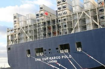 File CMA CGM Marco Polo: Photo credit UK MCA