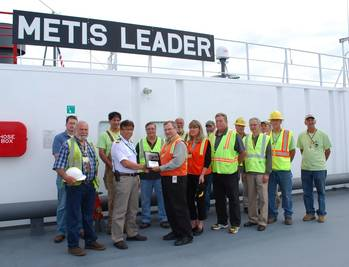 File Metis Leader welcoming: Photo courtesy of ISS