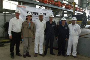 File ABS team (left to right) Country Manager for Mexico Paul DeLaire, Project Manager Lynnda Pekel, Project Manager for Survey Gustavo Garcia, Senior Principal Surveyor Pietro Culicetta, Principal Surveyor Roy Ingram, and Surveyor Israel Miron.