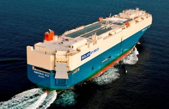 File Hybrid car carrier Emerald Ace under way