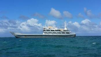 File  The MV Commander is anchored in the vicinity of Protestant Cay and presents no current threat to the environment