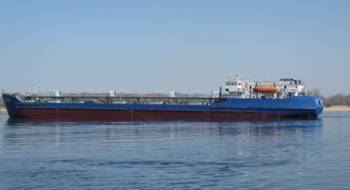 File Tanker Nordvik: Photo courtesy of Khatanga Sea Trade Port
