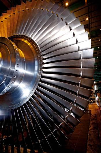 File Nuclear steam turbine rotor (Photo: Alstrom)