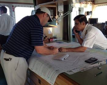 File Most mariners now use Print-on-Demand nautical charts that are up-to-date to the moment of printing. (Credit: NOAA)