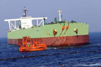 File MT Humanity is the first VLCC handled by the port (Photo: NMPT)